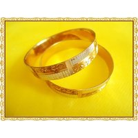 EXCLUSIVE DESIGNER TWO TONE BANGLES(2.6 )-WITH GUARANTEE OF GOLD POLISH