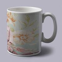 Cute Baby With Pink Bow Coffee Mug