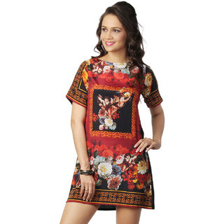 Love From India - Red Dress With Angel Floral Print