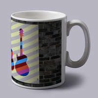 Colorful Guitars In The Wall Coffee Mug