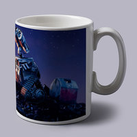 Wall E Looking In Space Coffee Mug
