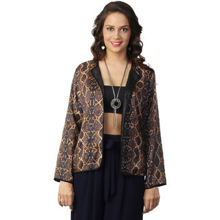 Love From India - Yellow Snake Skin Print Cape