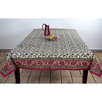 Multi Flower Print Cotton Table Cover