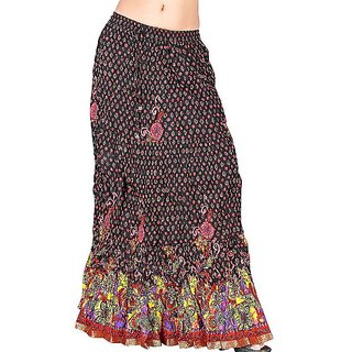 Shoppingtara  Zari Work Multi -Colour Cotton Long Skirt 133