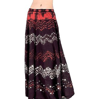 Shoppingtara  N Dye Dark Maroon Long Cotton Skirt 207