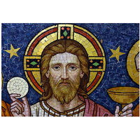 Jesus Christ Glass Art Poster 18x12 (A3 Size)