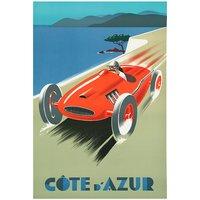 Cote D Azur Racer Automobile Poster 12x18 (A3 Size)