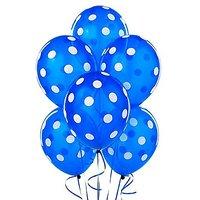 Dark Blue Polka Dot Balloons (10 Pieces)