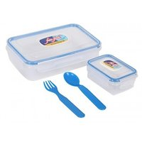 Fair Food Air Tight & Leak Proof Lunch Box 800 +125 With Fork And Spoon