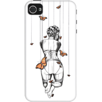 Dailyobjects Burlesque Butterflies Case For Iphone 4/4S White/Cream