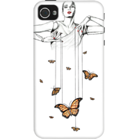 Dailyobjects Butterfly Dance Case For Iphone 4/4S White/Cream