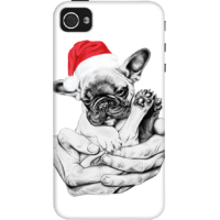 Dailyobjects Christmas Frenchie Case For Iphone 4/4S White/Cream