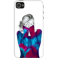 Dailyobjects Cosmic Girl Case For Iphone 4/4S White/Cream