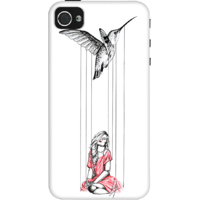 Dailyobjects Humming Bird Case For Iphone 4/4S White/Cream