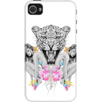 Dailyobjects Wilderness Around Case For Iphone 4/4S White/Cream