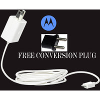 NEW OEM ORIGNAL MOTOROLA HOME TRAVEL CHARGER 2 PIN FOR ALL MOTO G E X DUAL SIM [