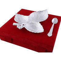 Hand-e-Crafts Silver Plated Brass 3 Leaf With Spoon
