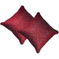 Beledecor Maroon Wave Cushion Cover In Dupion Silk Set Of 2
