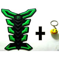 TANK PAD FOR ALL BIKES WITH STYLISH KEY CHAIN-COMBO PACK