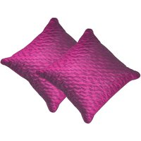 Beledecor Pink Wave Cushion Cover In Dupion Silk Set Of 2