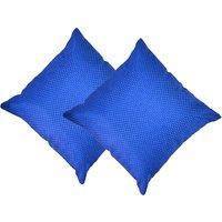 Beledecor Blue Cushion Cover In Jute Design Set Of 2