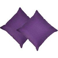 Beledecor Purple Cushion Cover In Jute Design Set Of 2