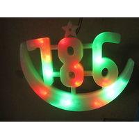 Decorative Festive Lucky 786 Designed LED Light
