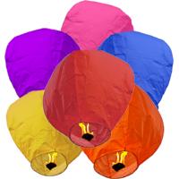 Regular Sky Lantern  Pack Of  5 Mix Colour - 6565444