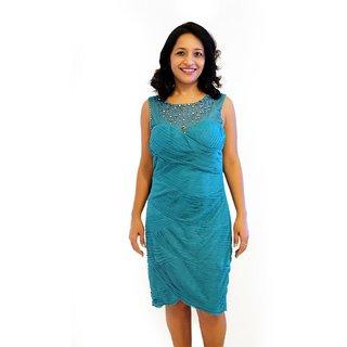 Pleated Embelished Dress