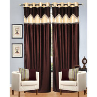 Dazzle   Dazzling Dark Curtain  (set Of 2 ) With   Lace