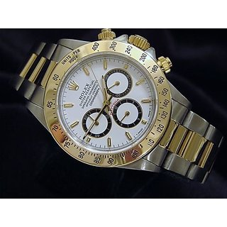 Mens Rolex Daytona White Dial Watch