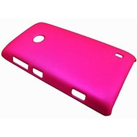 Rubberized Hard Back Pink Cover Case For Nokia Lumia 520
