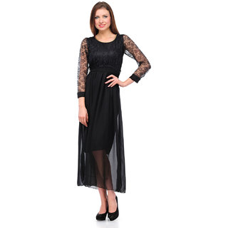 Sukuma Black Net Designer Dress