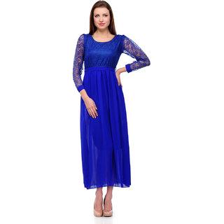 Sukuma Blue Net Designer Dress