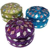 Decorative Heavy Duty Multi-purpose Jewellery/Ornament/Sindoor Box - Set Of 3
