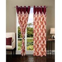 HomeSazawat Set Of 2 Beautiful Eyelet Door Curtain(4x7ft) - 6606402