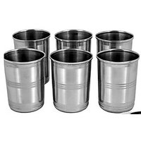 Stainless Steel Satyam Glass Set Of 6