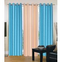 HomeSazawat Set Of 3 Beautiful Eyelet Door Curtain(4x7ft) - 6609250