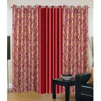 Homesazawat Set Of 3 Beautiful Eyelet Door Curtain