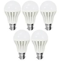 LED BULB 7W BRIGHT WHITE LIGHT LED BULB SAVING ENERGY (set Of 5)