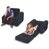 Intex Single Person Pull Out Sofa Cum Bed With Nazar Suraksha Kavach Free Worth Rs.5199/