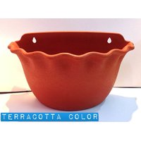 Platinum Pot Set Of Two Piece Wall Hanging Terracota Color With Self Watering