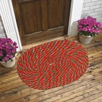Beautiful Door Mat (set Of 2) - Red