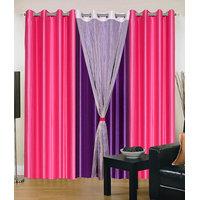HomeSazawat Set Of 4 Beautiful Eyelet Door Curtain(4x7ft) - 6631772