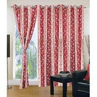 HomeSazawat Set Of 3 Beautiful Eyelet Door Curtain(4x7ft) - 6631958