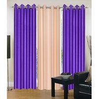 HomeSazawat Set Of 3 Beautiful Eyelet Door Curtain(4x7ft) - 6632204
