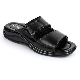 Coolers Trendy Mens Black Formal Slippers