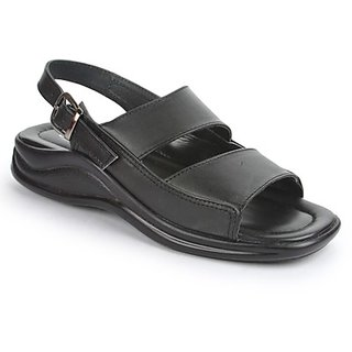 Coolers Urbane Mens Black Formal Sandal