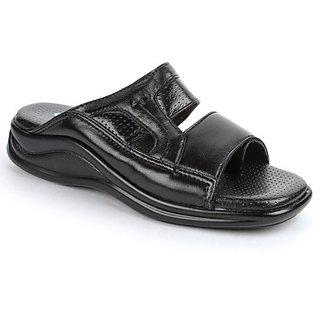 Coolers In Trend Mens Black Formal Slippers