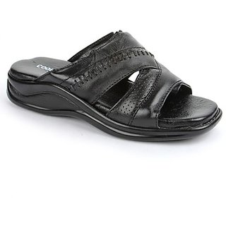 Coolers In Fashion Mens Black Formal Slippers